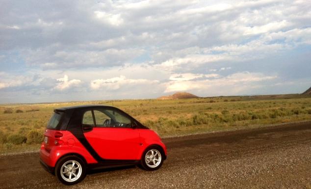 Smart Car Photo Shoot New Mexico Desert