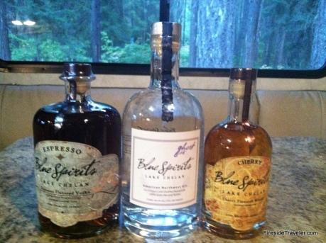 yum! Spirits we bought!