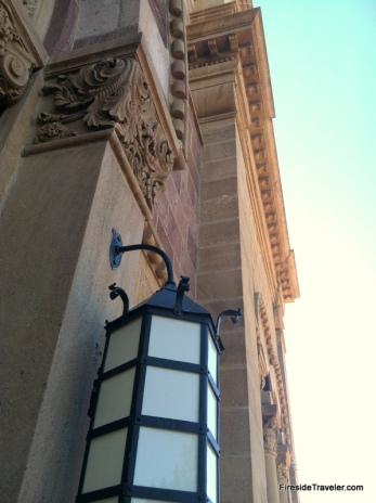 Close up Santa Fe NM Cathedral