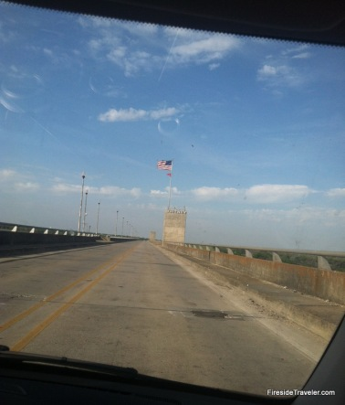 Driving Over Whitney Dam TX