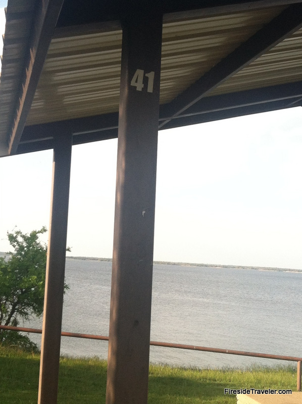 Site 41 public campground near Whitney Dam