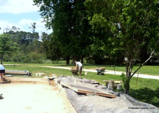 Sifting 1/4 inch screen at Jamestown Dig Virginia
