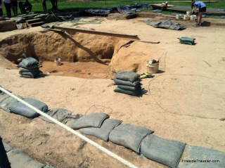Active Dig at Jamestown historic site Virginia