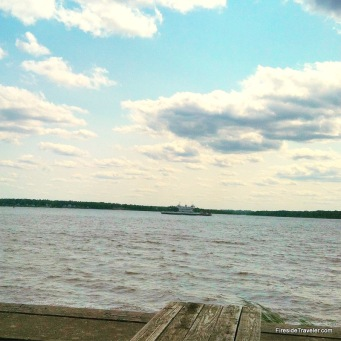 View from Jamestown VA looking out over the James River