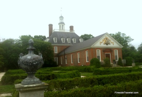 Back of Govenors Palace Colonial Williamsburg VA