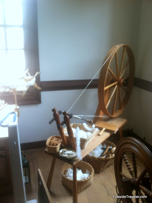 Spinning at Colonial Williamsburg VA
