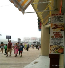 Foggy Day Atlantic City Boardwalk