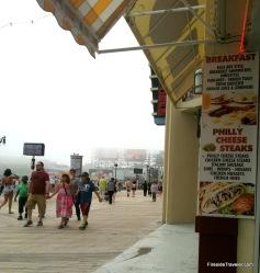 Foggy Day Atlantic City Boardwalk